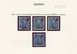 Used Stamps, Lot, Mozambique, Lourenço Marques D. Carlos 1916 C/ Sobrecarga KIONGA, 4 Valores  (Lot 351) - Kionga