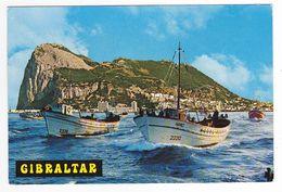 Penon De Gibraltar N°41 Salida A La Pesca Sortie à La Pêche Bateau Narci VOIR DOS - Gibraltar