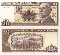 CUBA 10 Pesos, 2017, P-NEW, (not Listed In Catalog), New Signature, UNC - Kuba