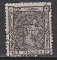 1875 ALFONSO XII 1 PTA. USADO RULETEADO. VER - Usados