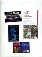 Lot 4 Carte De Visite Restaurant Hotel Theme Dragon - Cartes De Visite