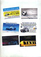 Lot 9 Carte De Visite Theme Voiture - Cartes De Visite