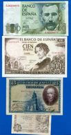 Espagne  4  Billets - [ 3] 1936-1975 : Régimen De Franco