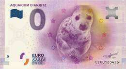France - Billet Touristique 0 Euro 2016 - Aquarium De Biarritz - EURO