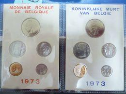 BELGIE FDC SET 1973 FRANS - NEDERLANDS - Uncirculated
