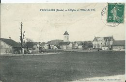 TREVILLERS - L'église Et L'hôtel De Ville - Other Municipalities