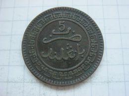 Morocco , 5 Mazunas 1320 (1903) Birmingham Mint - Marokko