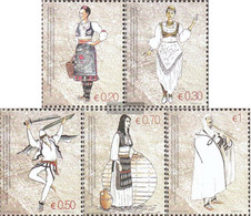 Kosovo 74-78 (complete Issue) Unmounted Mint / Never Hinged 2007 Costumes - Ungebraucht