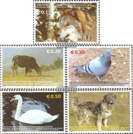 Kosovo 45-49 (complete Issue) Unmounted Mint / Never Hinged 2006 Animals - Ungebraucht