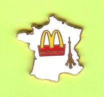 Pin's Mac Do McDonald's Carte France Tour Eiffel - 5FF09 - McDonald's