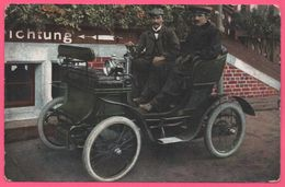 Automobile - Taxi - Fiacre - 2 Hommes - Vieille Voiture - Animée - 1905 - Taxis & Fiacres