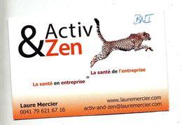 Carte De Visite Activ Zen Theme Panthere - Cartes De Visite