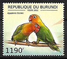 BURUNDI - MNH 2012 :   Fischer's Lovebird  -  Agapornis Fischeri - Papegaaien, Parkieten