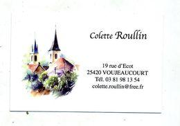 Carte De Visite ? Voujeancourt Eglise - Cartes De Visite