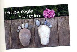 Carte De Visite Reflexologie Plantaire Theme Pied Galet - Cartes De Visite