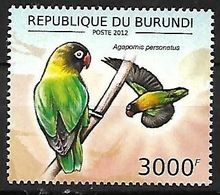 BURUNDI - MNH 2012 :   Yellow-collared Lovebird  -  Agapornis Personatus - Papegaaien, Parkieten