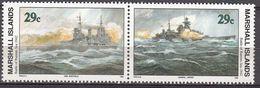 Marshall Islands 1992 WO II Battle Of Barents Sea  1942  Michel 450-51  MNH 28051 - Marshall