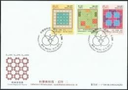 2015 MACAO/MACAU SCIENCE &TECHNOLOGY Magic Square FDC - 1999-... Chinese Admnistrative Region
