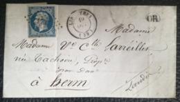 LETTRE 1857 - LIPOSTHEY Pour HERM - Obl. 1737 - Origine Rurale (OR) - Marcofilie (Brieven)