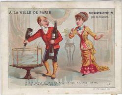 Chromo Image 75 A La Ville De Paris  Nouveautes 170 Rue Montmartre Je Leur Donne De L'eau  De Pullna  A Ces Pauvres Bete - Chocolat
