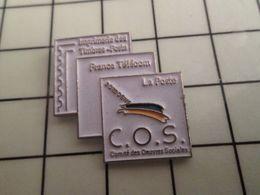 316a Pin's Pins / Rare & Belle Qualité !!! THEME POSTES / COS DORDOGNE LA POSTE FRANCE TELECOM IMPRIMERIE DES TIMBRES-PO - Postes