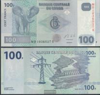 Kongo (Kinshasa) Pick-number: 98b Uncirculated 2013 100 Francs - Zonder Classificatie