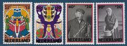 NVPH 1046-1049 - 1974 - Zomerzegels - Wereldmuziekconcours, Ballet, Herman Heijermans, Kniertje - Nuovi