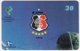 BRASIL B-978 Magnetic Telemar - Sport, Soccer, Crest - Used - Brésil