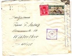 EGYPT 1941: Censored Letter From CAIRO 23 JAN 41 To Winterthur (SUISSE) Oilfield Ltd. - Egypt