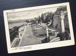 Yugoslavia 1937 Serbia Beograd Postcard Kalemegdan Fortress Big Terrace  C24 - Yougoslavie