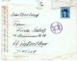 EGYPT 1941: Censored Letter From CAIRO 3 AUG 40 To Winterthur (SUISSE) Oilfield Ltd. - Egypt