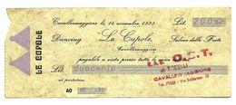 1973 - Italia - Le Cupole Di Cavallermaggiore - O.S.T. - [10] Scheck Und Mini-Scheck