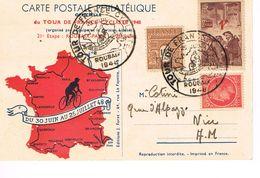 CARTE POSTALE PHILATELIQUE - TOUR DE FRANCE - 1948 - 21ème ETAPE - ROUBAIX - PARIS - - Radsport