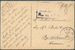 CP En S.M. Sc Postes Militaires BElgique 3 Du 18-XI-1919 + Griffe Violette SECTEUR BELGE POST NR.7 Vers PRY * (relais) - Poststempels/ Marcofilie