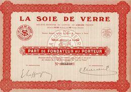 La Soie De Verre, Part - Textile