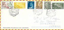ESPAGNE - LAS PALMA   -  LETTRE PAR AVION => LA FRANCE -  LAS PALMA   - 1977 - 1931-Aujourd'hui: II. République - ....Juan Carlos I