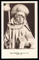 """Santa Reinilde / Martire A Saintes Nell'Hainault Con Grimoaldo E Gondolfo - (Francia - Metà Novecento) - """"Riproduzione"""" - Devotion Images"""