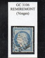 Vosges - N° 60C Obl GC 3106 Remiremont - 1871-1875 Ceres