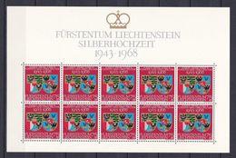 Europa-CEPT - Liechtenstein - 1968 - Michel Nr. 496 -  Klb. -  Postfrisch - Europa-CEPT