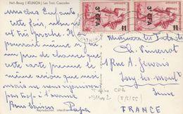 REUNION  CARTE PHOTO HELL-BOURG  LES TROIS CASCADES - Réunion (1852-1975)