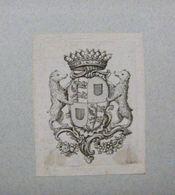 Ex-libris Héraldique XVIIIème - BELGIQUE - CASSINA DE BOULERS (Flandre) - Ex-libris