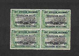 COB N°28 B Timbres Du Congo Surchargés En Typographie Bleu Foncé 5 C Vert En Blocs De Quatre Côte 4.00€ XX MNH - Ruanda-Urundi