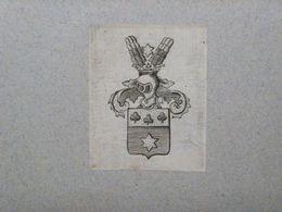 Ex-libris Héraldique XVIIIème - BELGIQUE - BROU DE LA WASTINNE - Bookplates