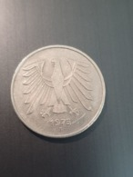 """5 Deutsche Mark """"F"""" 1975 BUNDESREPUBLIK DEUTSCHLAND Circulated  Coin - Germany  (C0020) - [ 7] 1949-…: BRD"""