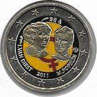 PIECE DE 2 EURO  De BELGIQUE DE 2011 COLORISEE - Bélgica