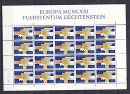 Europa-CEPT - Liechtenstein - 1963 - Michel Nr. 431 -  Klb. -  Postfrisch - 20 Euro - Europa-CEPT