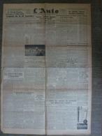 L'Auto 8 Novembre 1943 WW2 Jacques Godet Propagande Cyclisme Natation Football Rugby - Periódicos