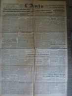 L'Auto 2 Novembre 1943 WW2 Jacques Godet Propagande Cyclisme Natation Football Rugby - Periódicos
