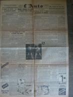 L'Auto 27 Octobre 1943 WW2 Jacques Godet Propagande Cyclisme Natation Football Rugby - Periódicos