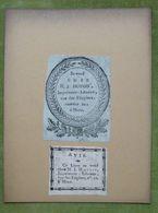 Lot De 2 Marques Typographiques XVIIIème - BELGIQUE - H.J. HOYOIS Libraire - Ex-libris